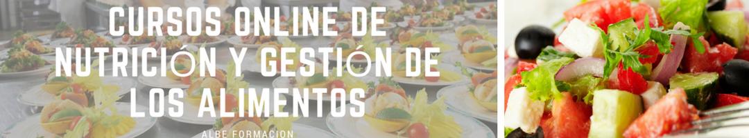 Cursos Online de Nutrición y Gestión de los Alimentos